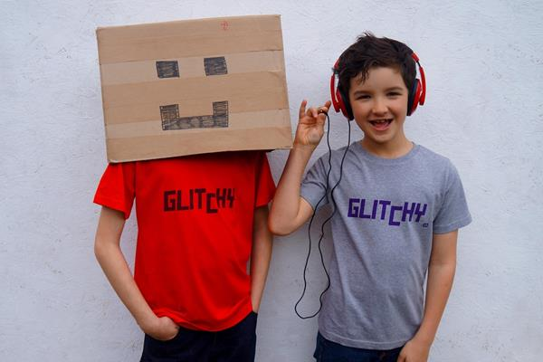 Glitchy Organic T-shirt For Older Kids