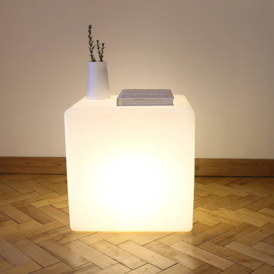 One Foot Taller Cube Lamp Side Table