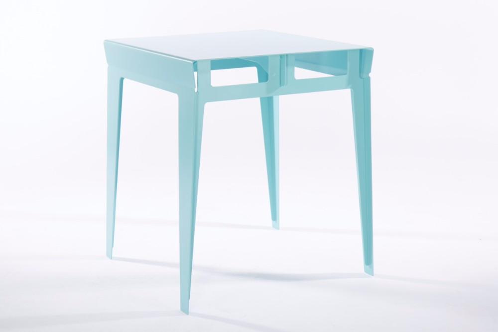 Havant Side Table by Graftin in Aqua Blue