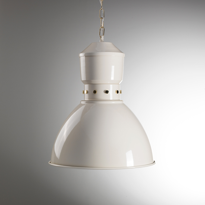 The High Bay Pendant Light In Polished Nickel