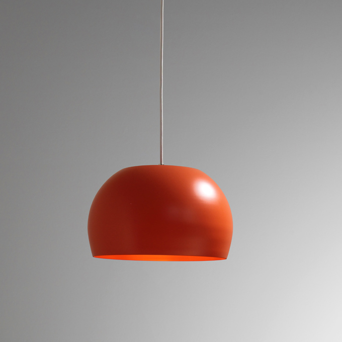 The Hipster Pendant light In Salmon Orange Finish
