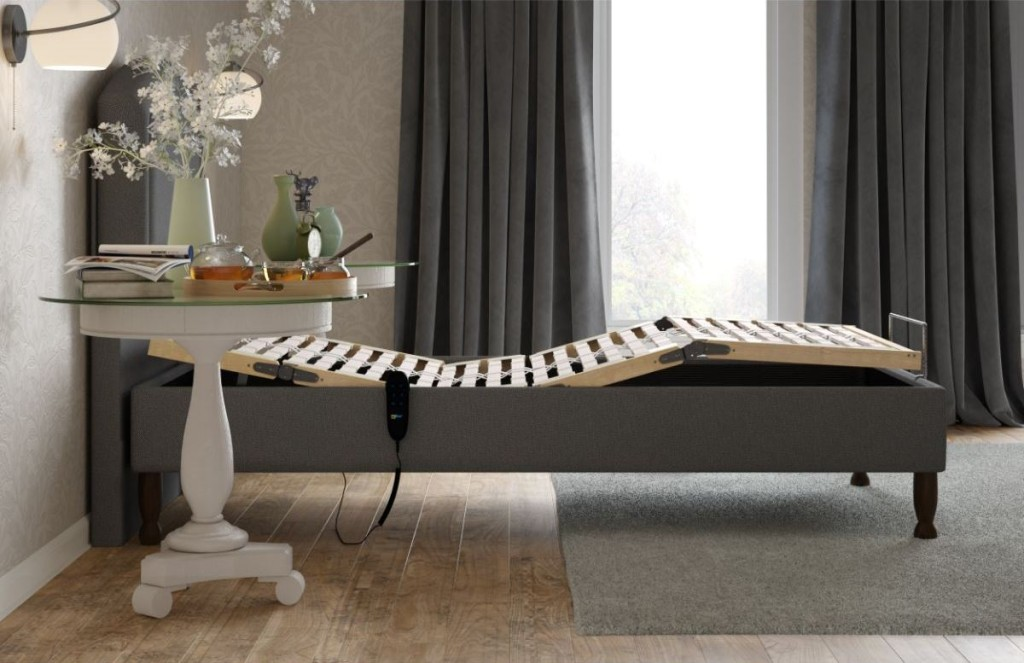 Alconbury single adjustable bed with shallow base