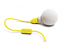 Fluo Yellow Plug-in Fluffy Muscar Light
