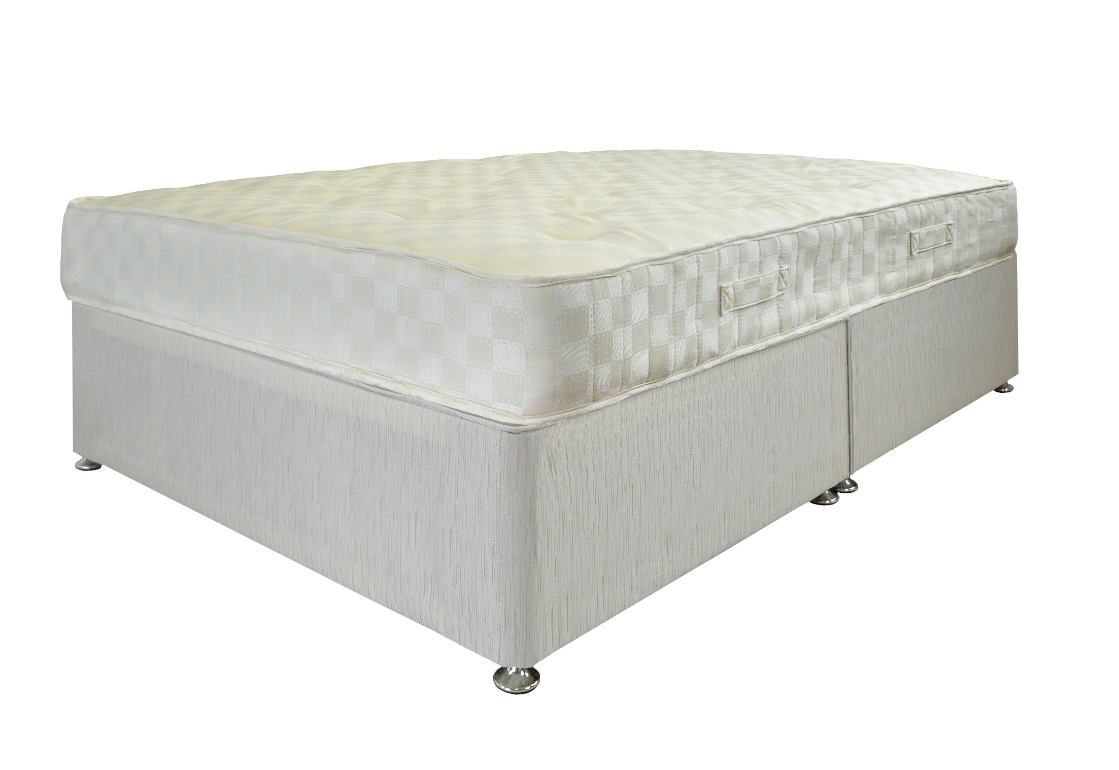 Small double ortho pocket 1200 pocket sprung mattress with for Small double divan set